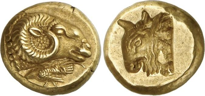 Золотая монета Греции Гекта
