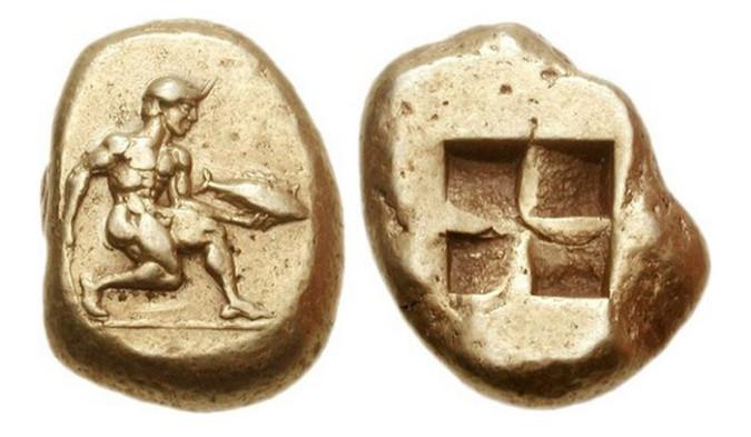 Золотая монета Греции Гемигекта