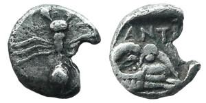 Медная монета Греции тетартеморий
