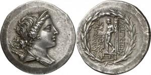 Серебряная монета Греции тетрадрахма