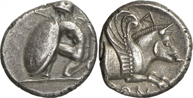 Серебряная монета греции тетробол