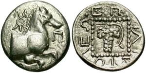 Серебряная монета триобол