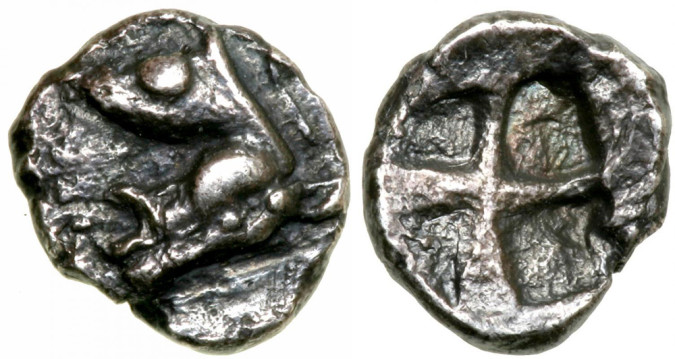 Монета греции тригемитартеморий