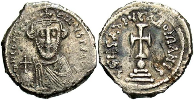 Серебряная монета Византии гексаграм