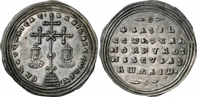 Серебряная монета Византии милиарисий