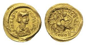 Золотая монета семисис