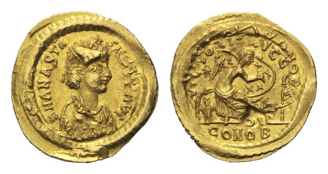 Золотая монета Византии семисис