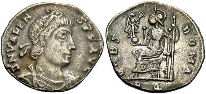 Серебряная монета Византии Силиква