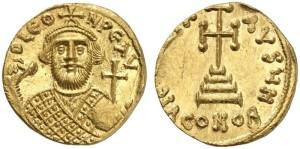 Золотая монета солид