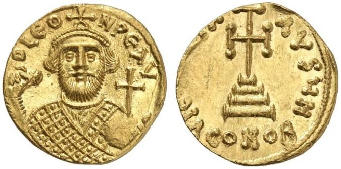 Золотая монета Византии солид