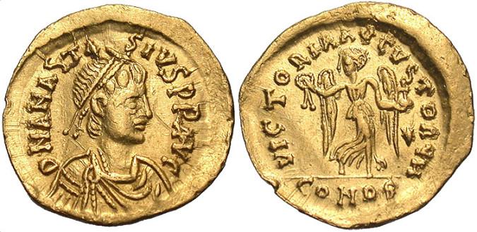 Золотая монета Византии тремиссис