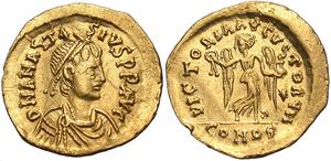 Античные монеты Византии